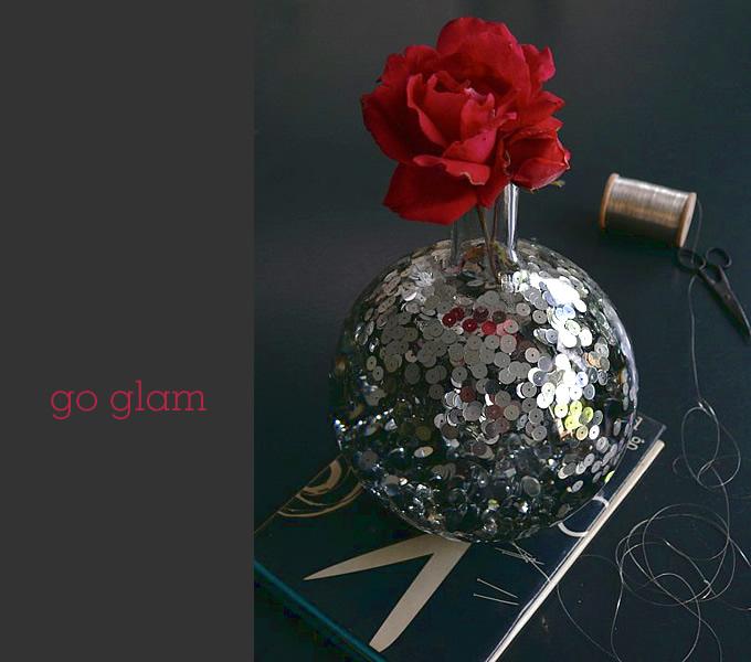 glam disco vase
