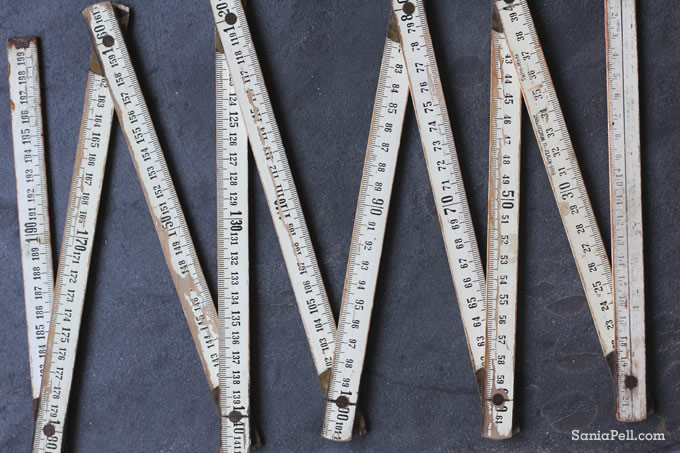 vintage ruler by Sania Pell