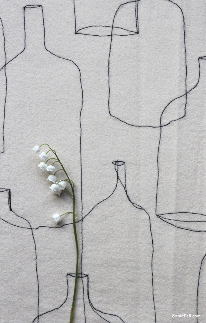 lily-of-the-valley and embroidery by Sania Pell