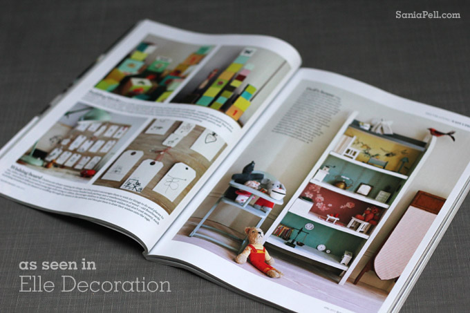 the homemade home for children in Elle Decoration