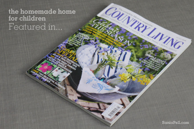 sania pell new book in Country Living magazine