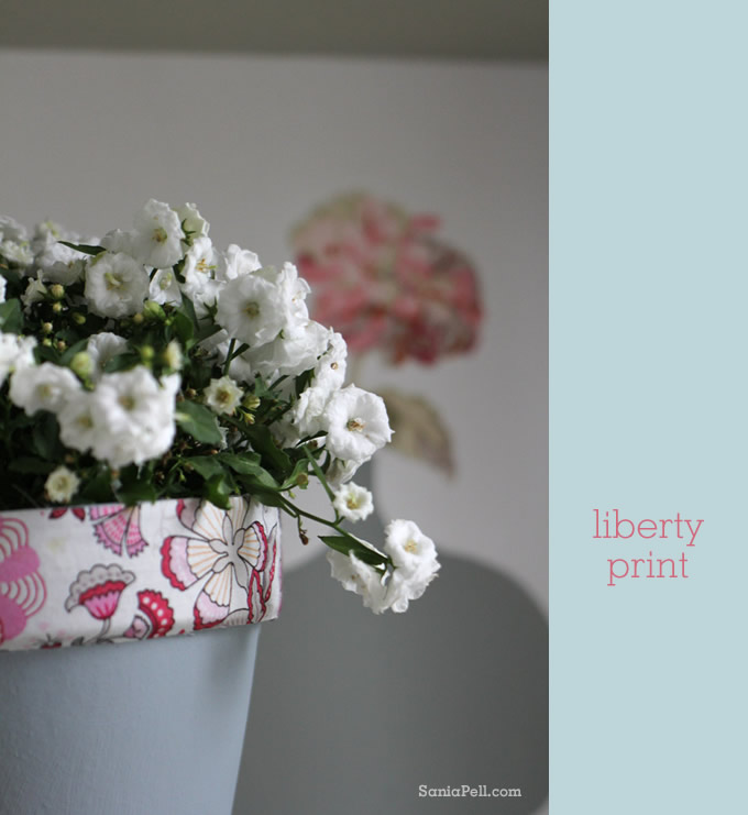 sania pell liberty print plant pot