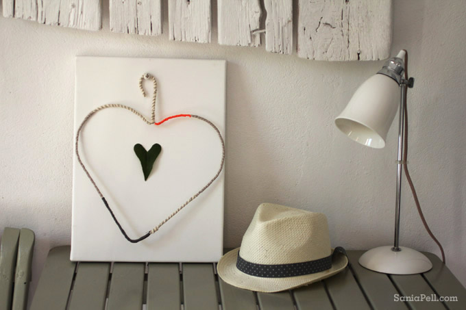 coat hanger heart art by Sania Pell