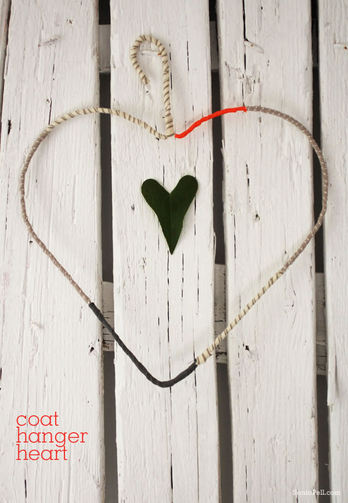 craft project coat hanger heart sania pell freelance