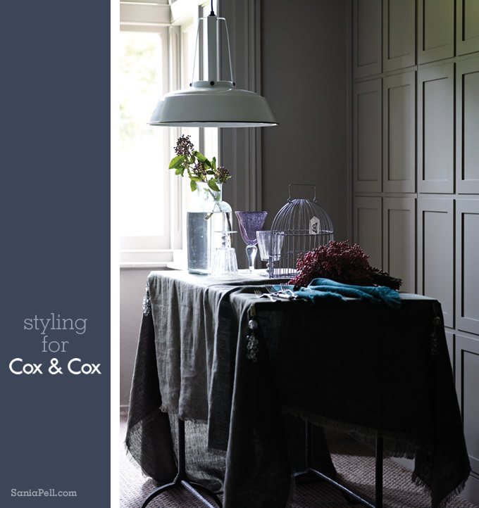 Interior stylist Sania Pell for Cox and Cox