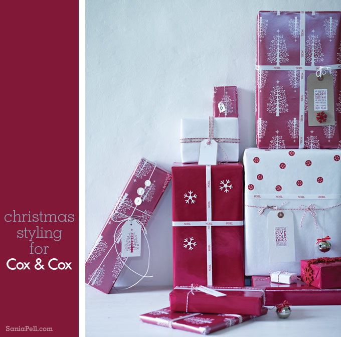Christmas styling by Sania Pell for Cox & Cox