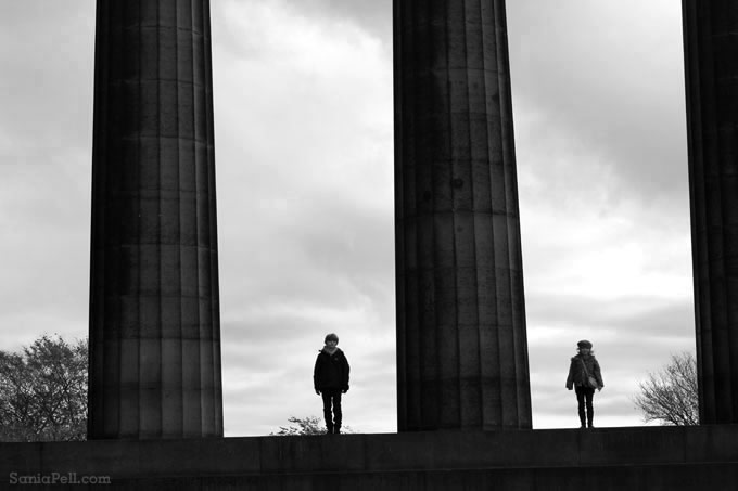 Calton Hill in Edinburgh by Sania Pell