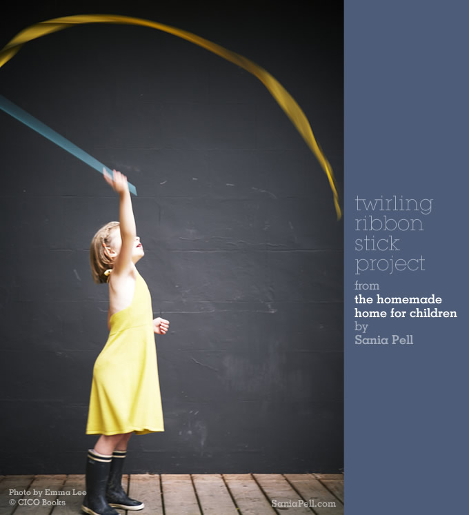 Twirling stick project from The Homemade Home for Children by Sania Pell