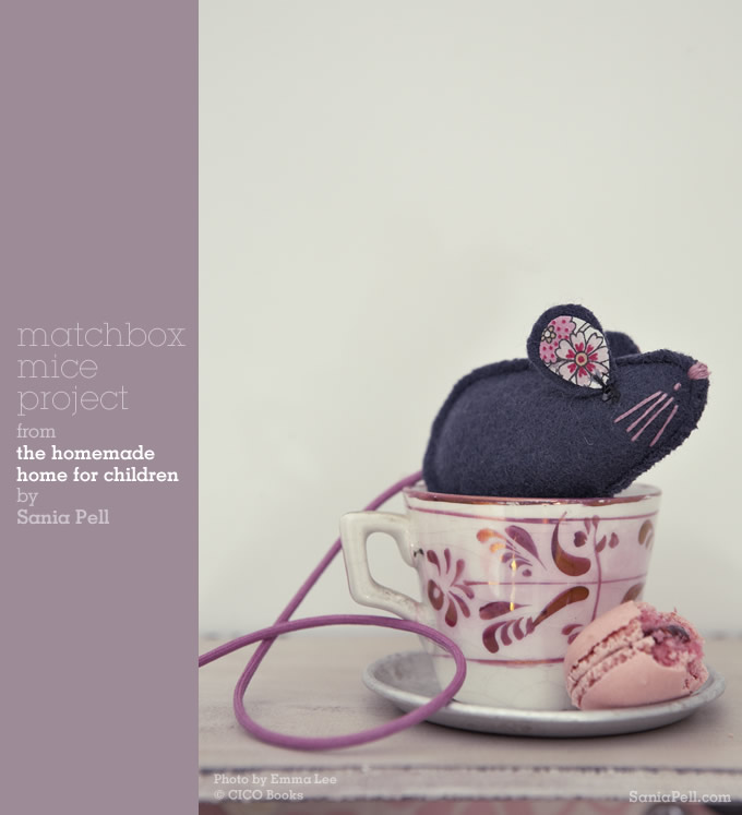 Matchbox mice project from The Homemade Home for Children by Sania Pell