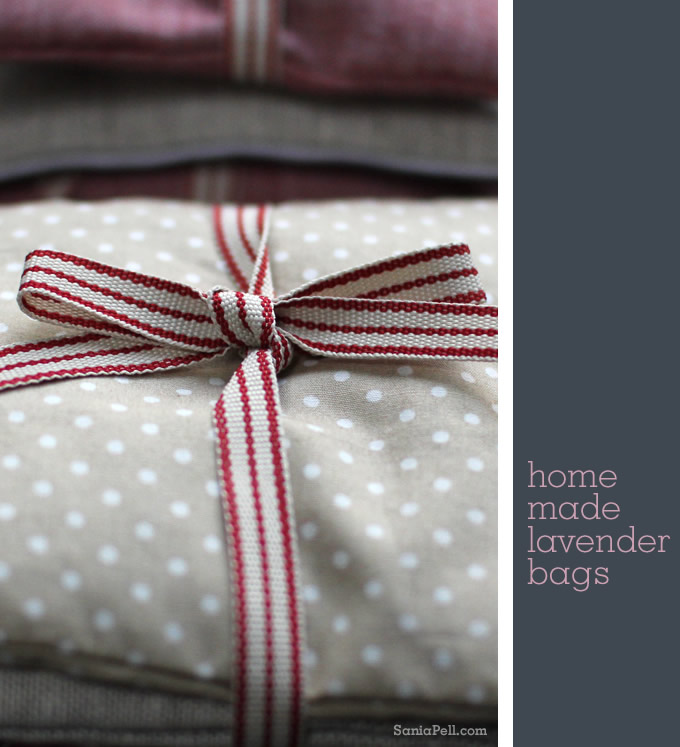Homemade lavender bags by Sania Pell