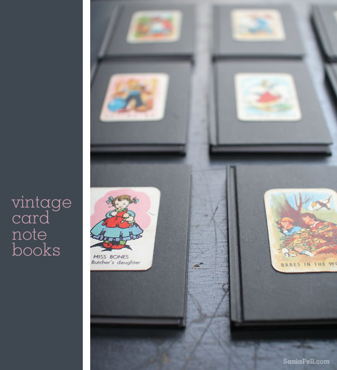 Vintage playing card notebooks by Sania Pell