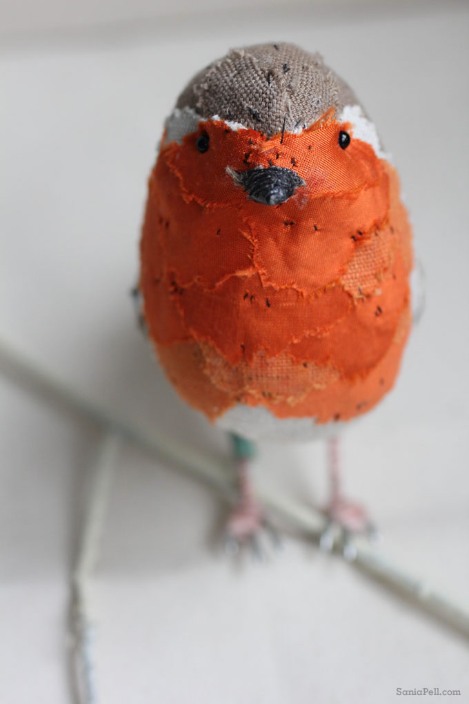 handmade robin by Abigail Brown - Photo by Sania Pell