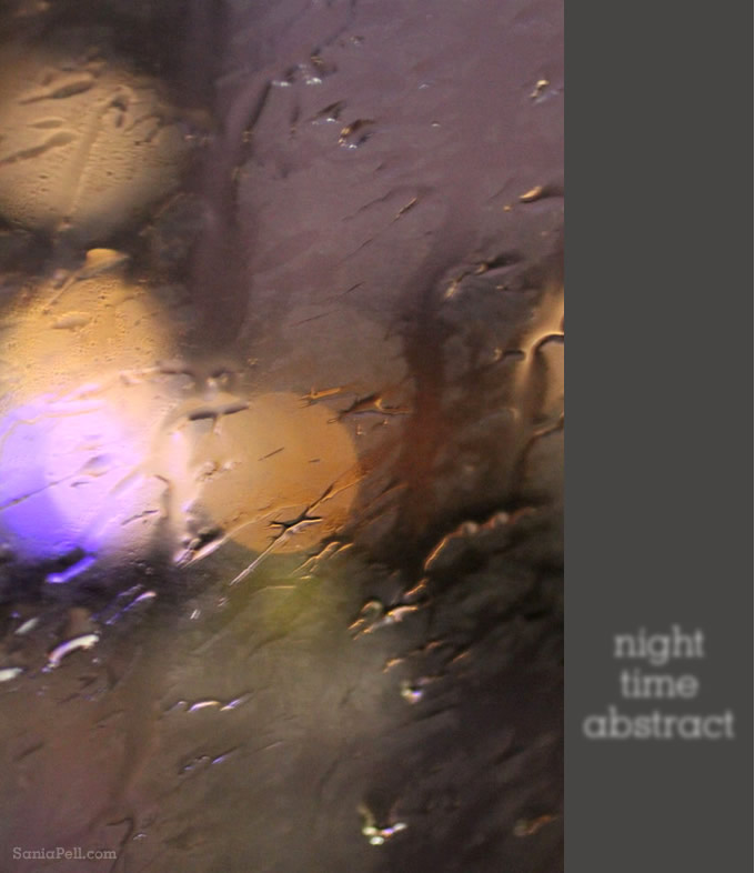London at night – abstract photograph by Sania Pell