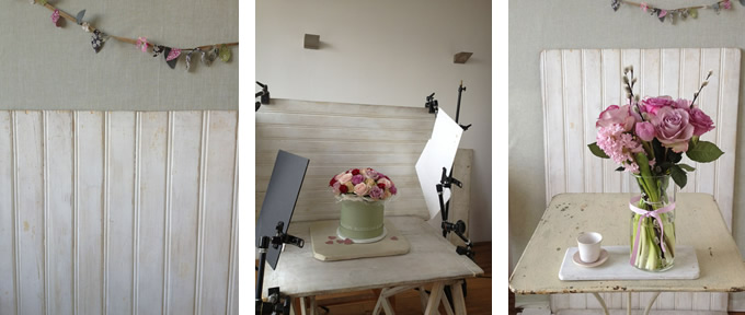 Behind the scenes of a flower photo shoot - Sania Pell