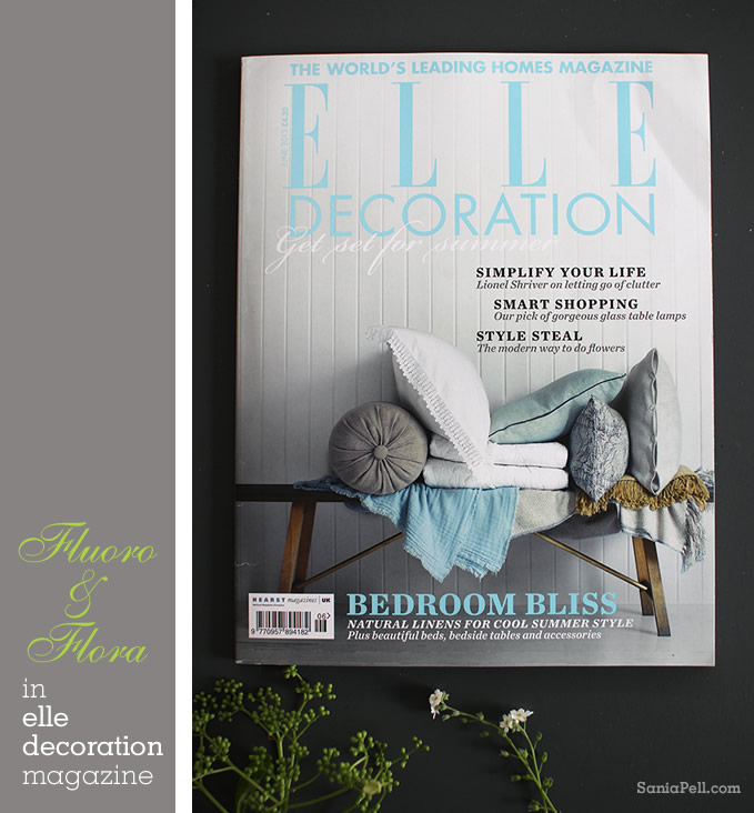 Elle Decoration magazine shoot by interior stylist Sania Pell