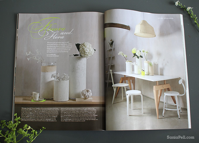 Fluoro & Flora interior styling feature by Sania Pell in Elle Decoration magazine