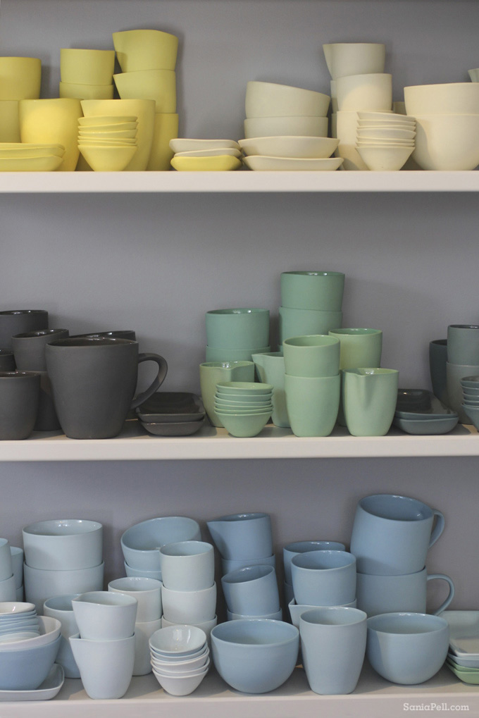 Ceramics at the Mud Australia store, Sydney - by Sania Pell