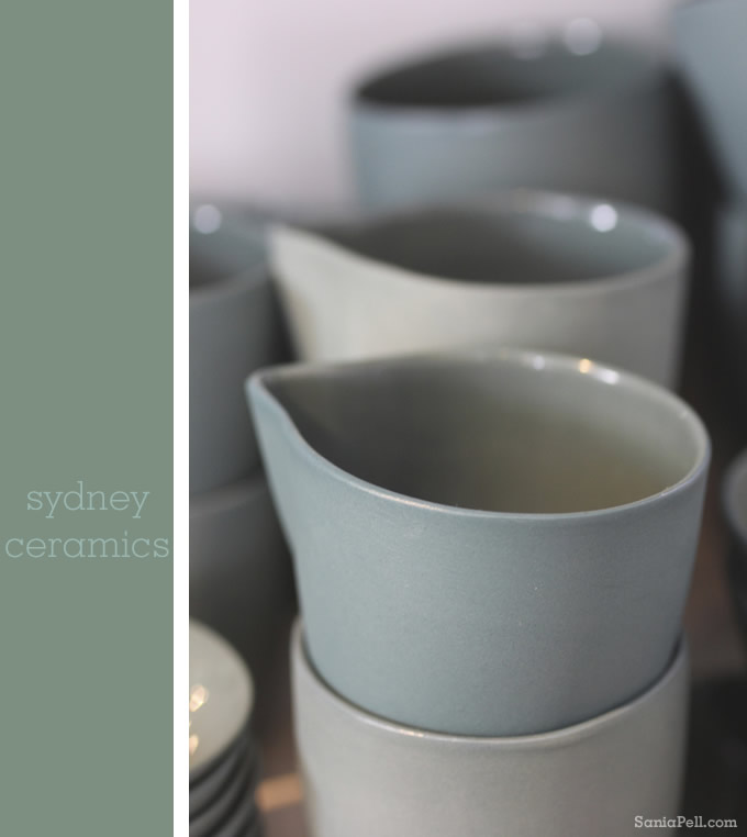 Ceramics at the Mud Australia store, Sydney - photo by Sania Pell