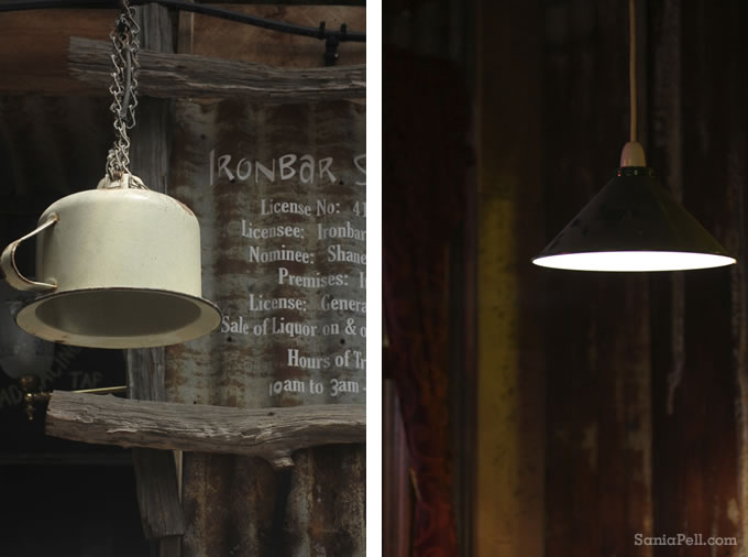 Tin lampshades - photos by Sania Pell
