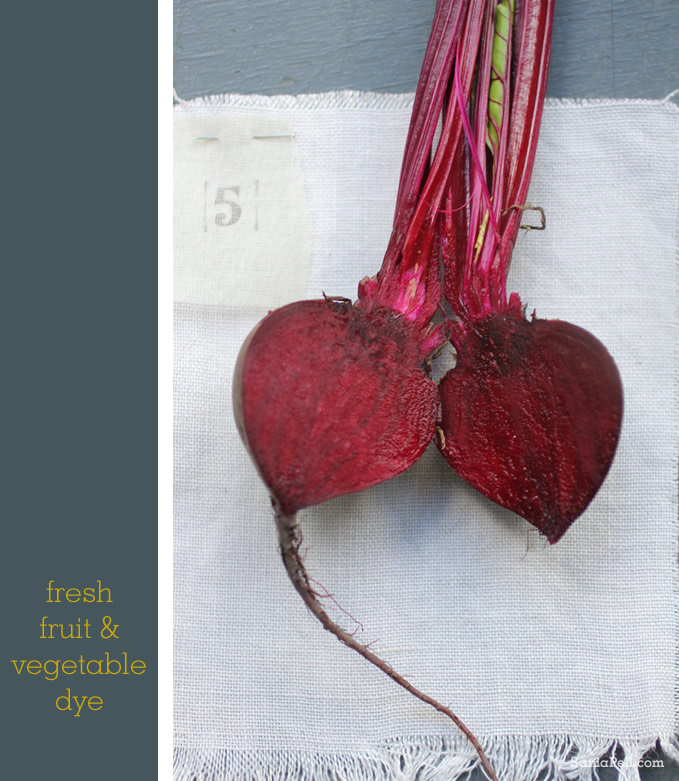 Homemade natural Beetroot dye by Sania Pell