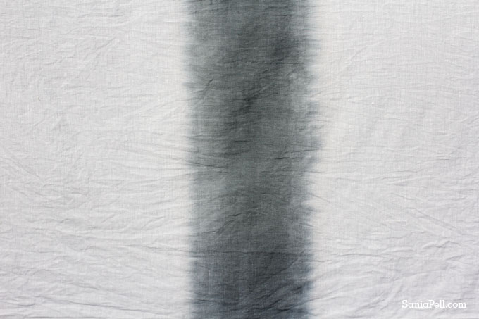 Ombré dyed linen by Sania Pell