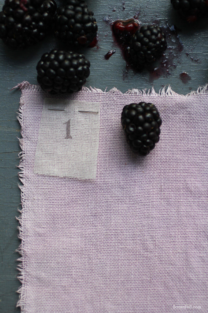 Homemade natural fruit dye by Sania Pell
