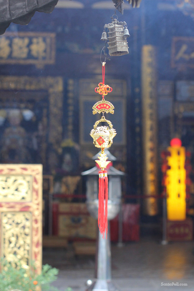 Temple in Chinatown, Singapore by Sania Pell