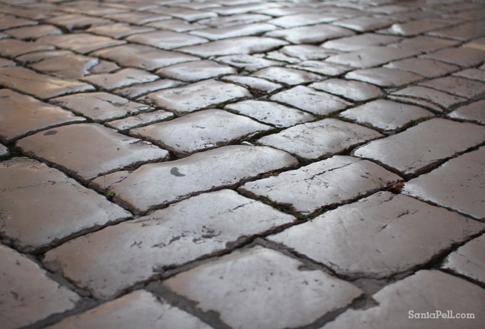 Ancient paving in Zadar, Croatia by Sania Pell