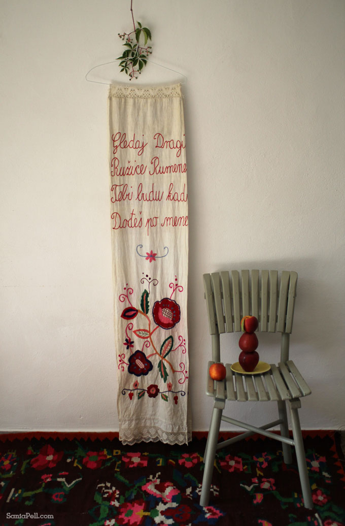 vintage Croatian embroidery, by Sania Pell