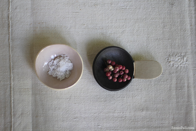 Sea Salt and Pink Peppercorns, photo by Sania Pell