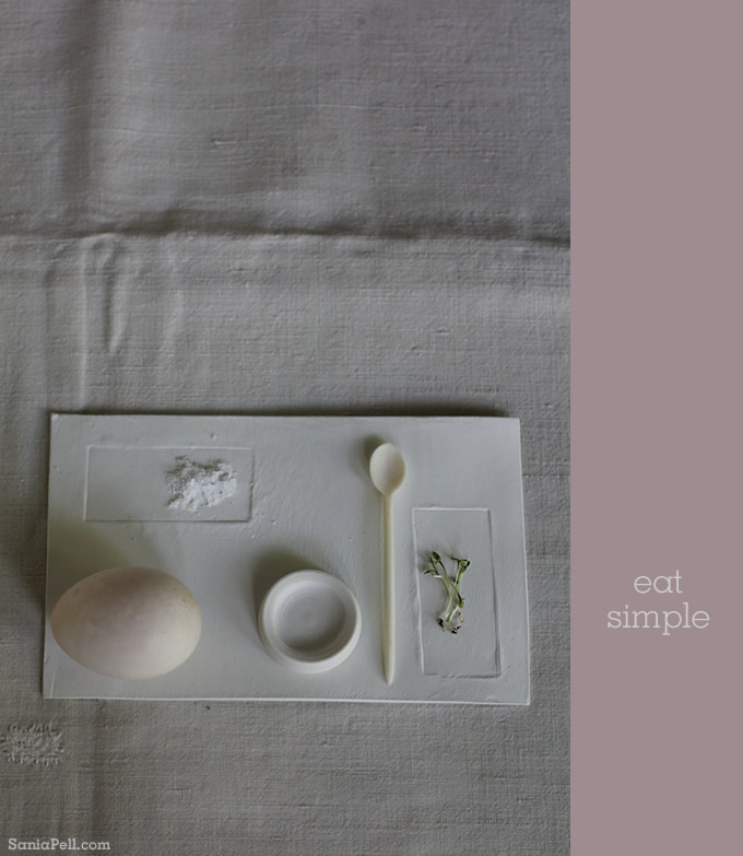 Eat simple - photography by Sania Pell