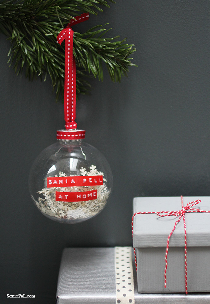 Personalised Christmas bauble design by Sania Pell available from The Letteroom