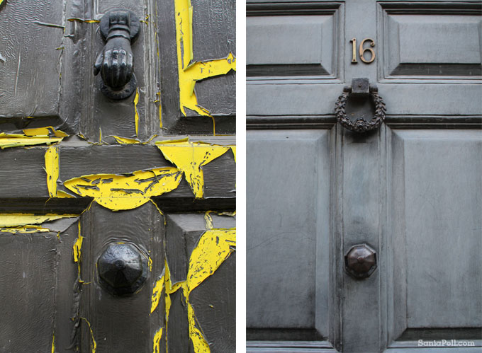 Georgian front doors in Shoreditch, by Sania Pell