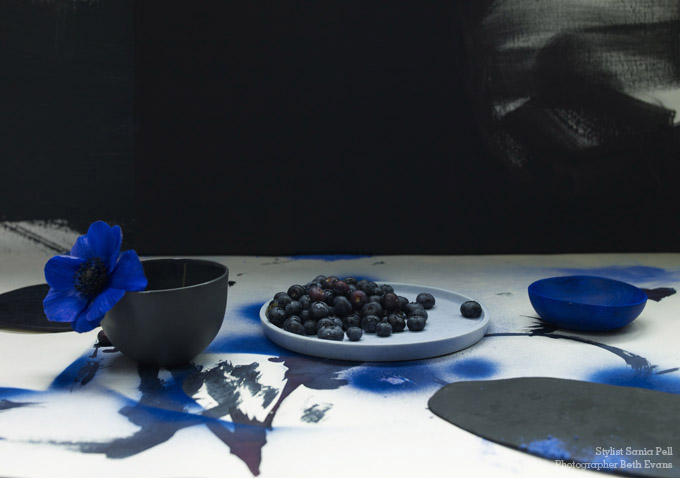 Black and Blue - Stylist Sania Pell, photographer Beth Evans