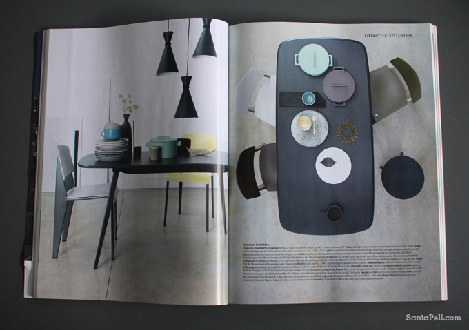 Modern Minimal by interior stylist Sania Pell for Elle Decoration magazine