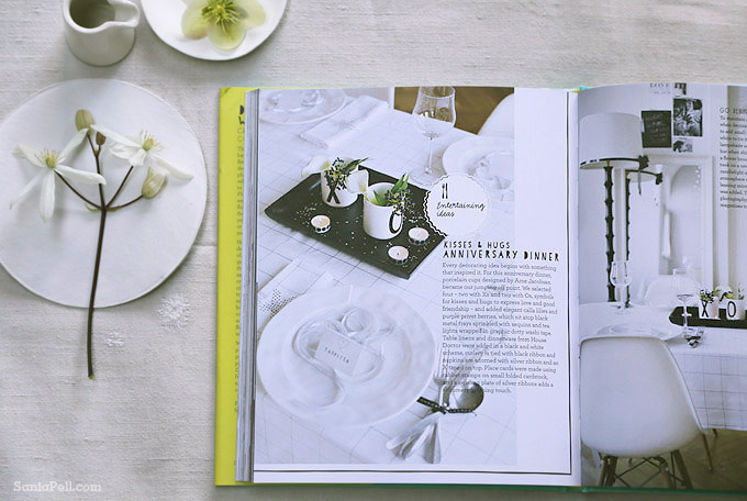 Inside Decorate with flowers book -  Photo by Sania Pell