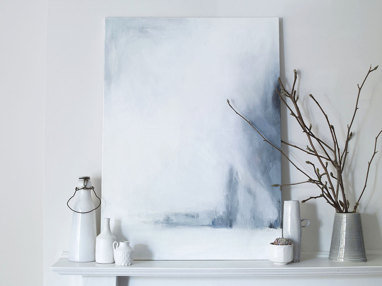 Painting on canvas and styling by Sania Pell, photographer Beth Evans