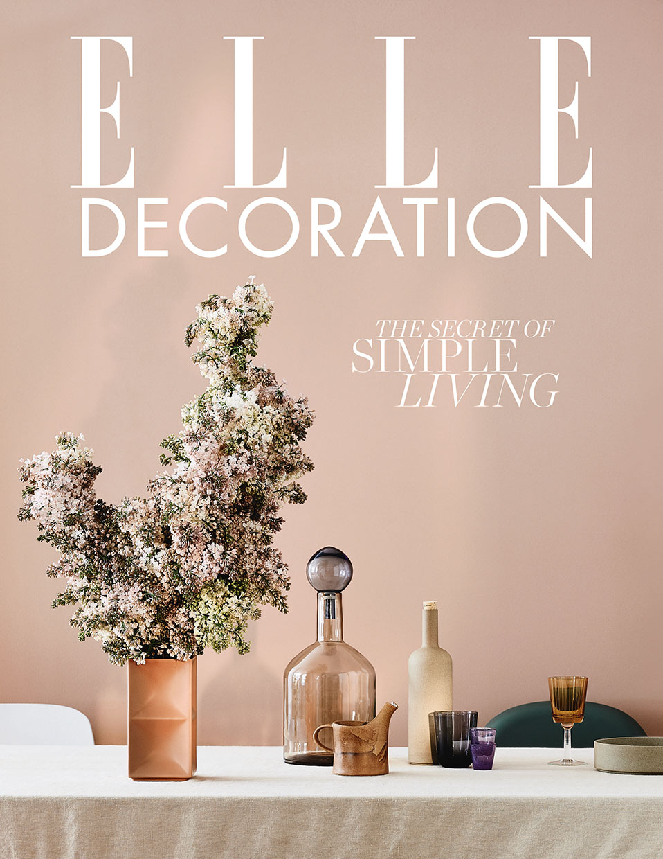Elle Decoration May 2018 subscriber front cover styled by interior stylist Sania Pell. Photography by Jake Curtis.
