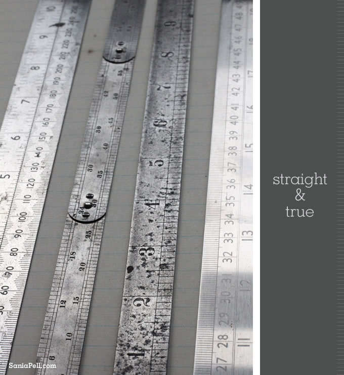 vintage rulers by Sania Pell