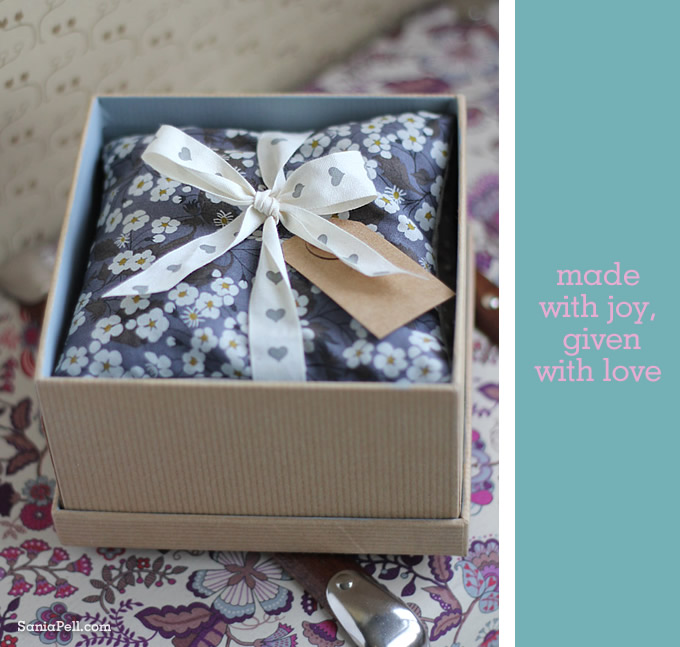 lavender bag gift by Sania Pell