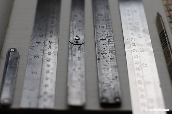 craft rulers by Sania Pell