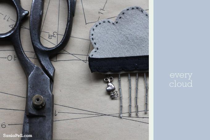 cloud brooch by sania pell