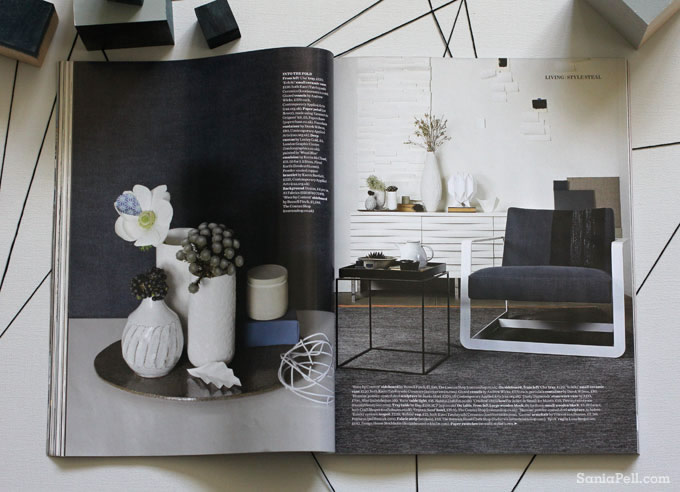 Sania Pell story for Elle Decoration magazine