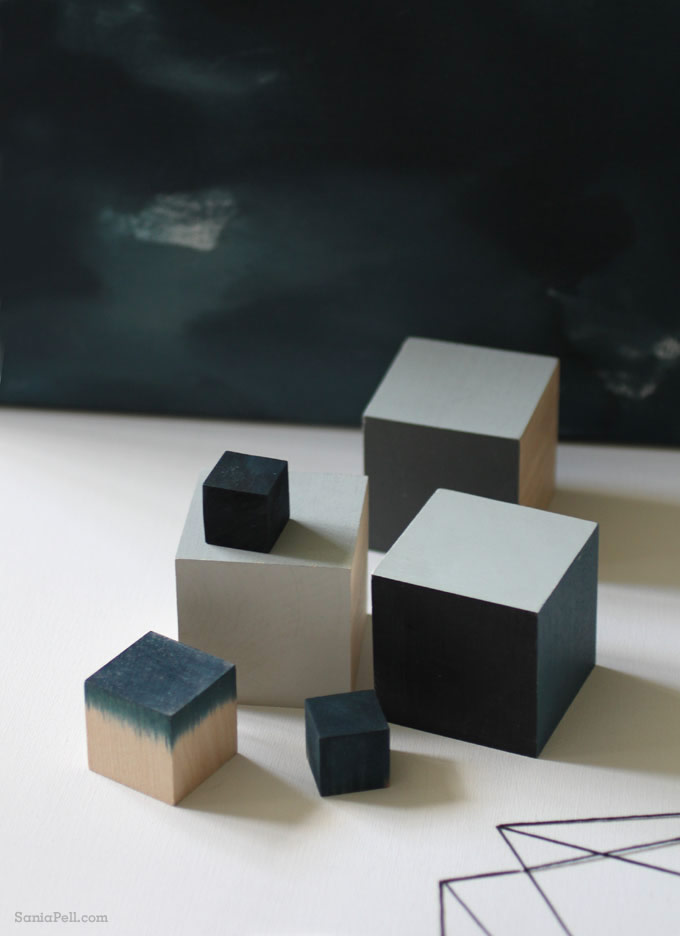 Sania Pell painted cubes