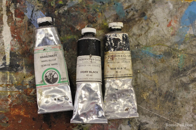 tubes of oil paint by Sania Pell