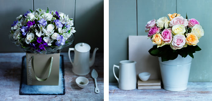 Sania Pell styling for Waitrose flowers, photos by Karen Thomas