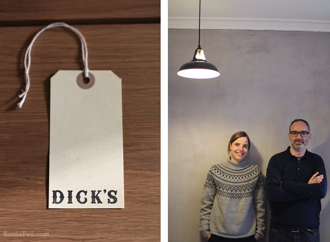 Uli and Andrew  - owners of Dick's store in Edinburgh, Scotland