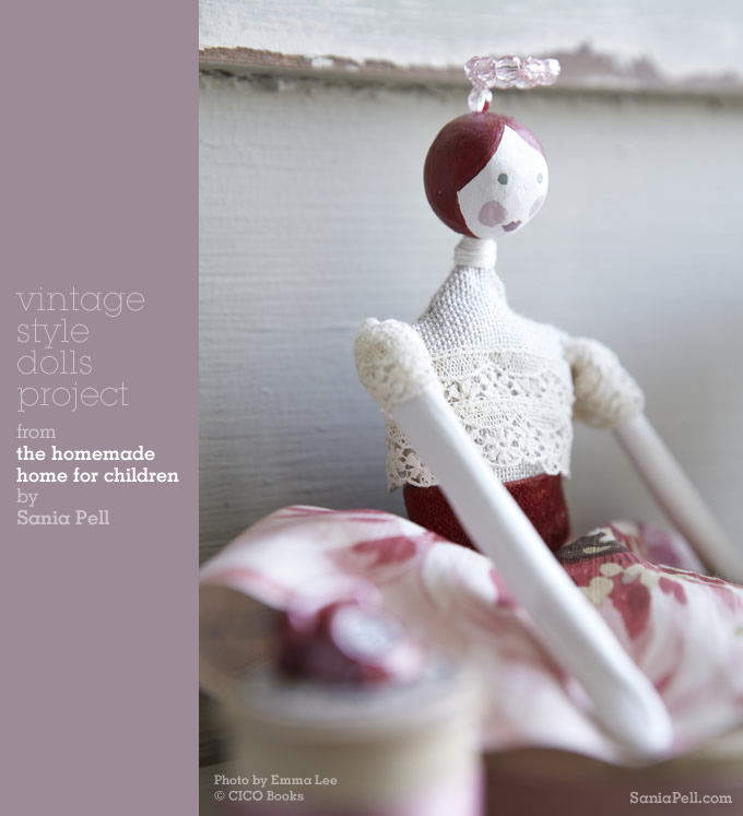 Vintage-style doll project from The Homemade Home for Children by Sania Pell