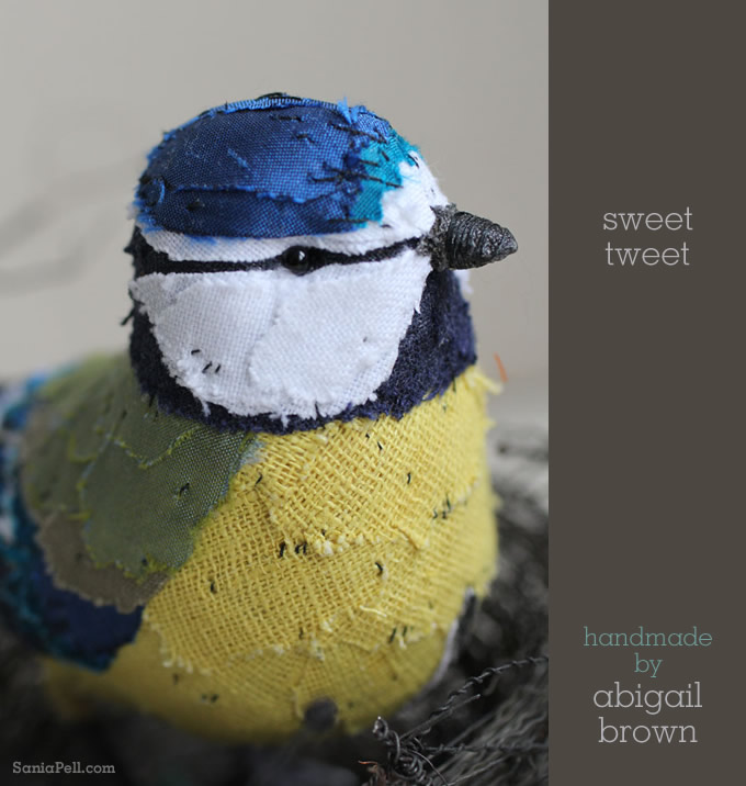 handmade blue tit by Abigail Brown - Photo by Sania Pell