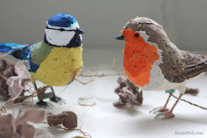 handmade birds by Abigail Brown - Photo by Sania Pell